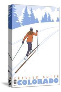 Crested Butte, Colorado - Cross Country Skier by Lantern Press