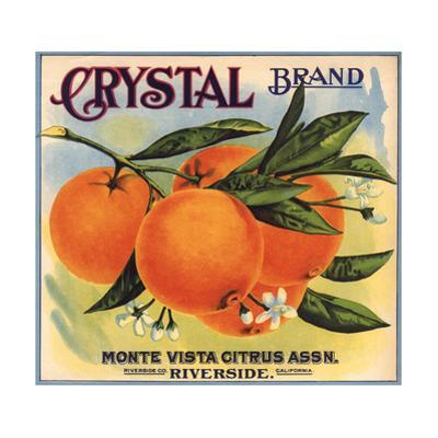 Crystal Brand - Riverside, California - Citrus Crate Label by Lantern Press