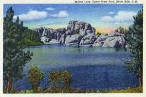 Custer State Park, South Dakota, View of Sylvan Lake in the Black Hills by Lantern Press