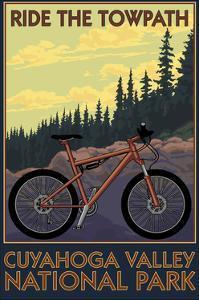 Cuyahoga Valley National Park, Ohio - Mountain Bike by Lantern Press