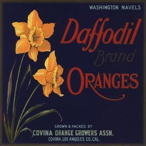 Daffodil Brand - Covina, California - Citrus Crate Label by Lantern Press