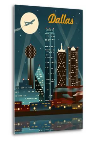 Dallas, Texas - Retro Skyline