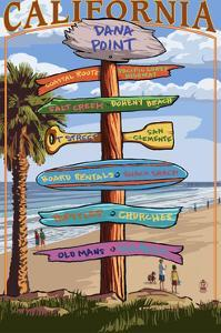 Dana Point, California - Destination Signpost (Version 3) by Lantern Press
