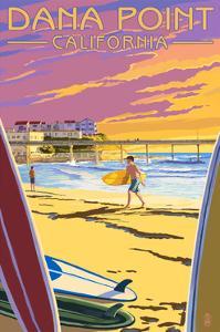 Dana Point, California - Ocean Beach Pier by Lantern Press
