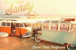 Dana Point, California - Peace, Love, and Sandy Feet by Lantern Press