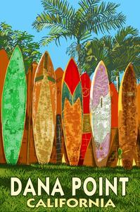 Dana Point, California - Surfboard Fence by Lantern Press