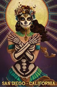 Day of the Dead Crossbones - San Diego, California by Lantern Press
