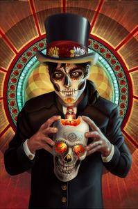 Day of the Dead - Man and Candle by Lantern Press