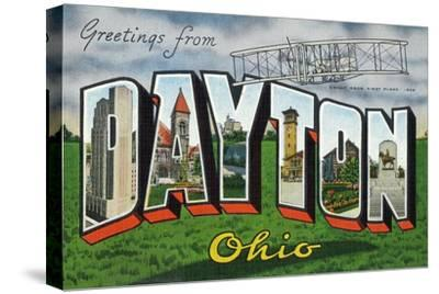 Dayton, Ohio - Large Letter Scenes, Wright Bros. Plane