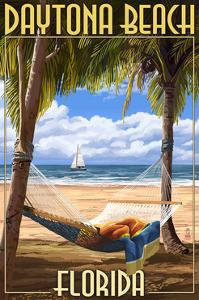 Daytona Beach, Florida - Palms and Hammock by Lantern Press