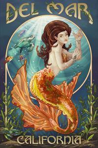 Del Mar, California - Mermaid by Lantern Press
