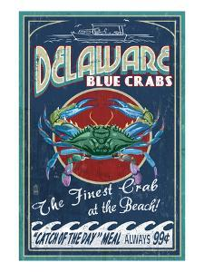 Delaware Blue Crabs - Best at the Beach by Lantern Press