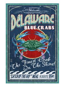 Delaware Blue Crabs by Lantern Press