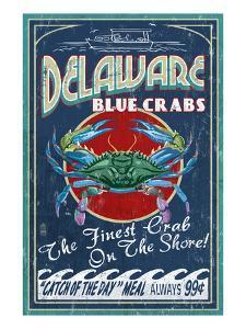 Delaware Blue Crabs by Lantern Press