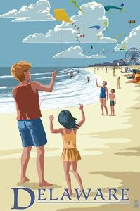 Delaware - Kite Flyers by Lantern Press