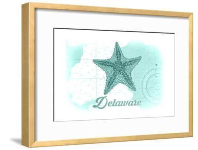 Delaware - Starfish - Teal - Coastal Icon