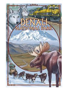Denali National Park, Ak - Train Version, c.2009 by Lantern Press