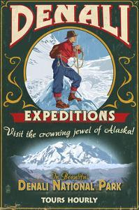Denali National Park, Alaska - Denali Climbers Vintage Sign by Lantern Press