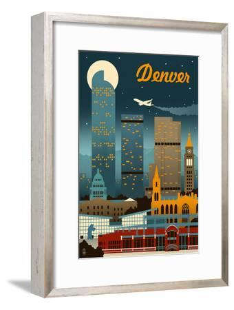 Denver, Colorado - Retro Skyline