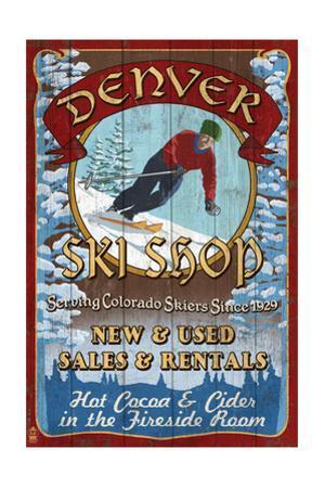 Denver, Colorado - Ski Shop Vintage Sign