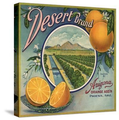 Desert Brand - Phoenix, Arizona - Citrus Crate Label