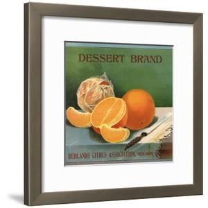Dessert Brand - Redlands, California - Citrus Crate Label by Lantern Press