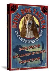 Devil Dog Tavern - Basset Hound by Lantern Press