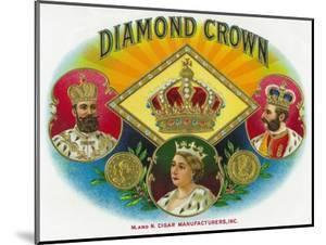 Diamond Crown Brand Cigar Box Label by Lantern Press