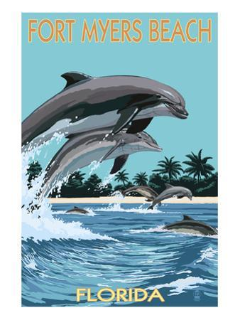 Dolphins Jumping - Fort Myers Beach, Florida