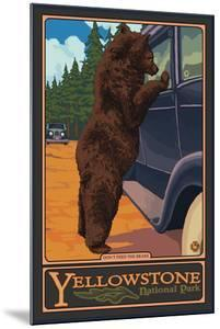 Don't Feed the Bears, Yellowstone National Park, Wyoming by Lantern Press