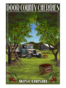 Door County, Wisconsin - Cherry Harvest by Lantern Press