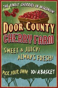 Door County, Wisconsin - Cherry by Lantern Press