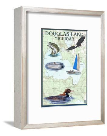 Douglas Lake, Michigan - Nautical Chart