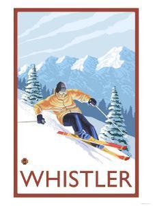 Downhhill Snow Skier, Whistler, BC Canada by Lantern Press