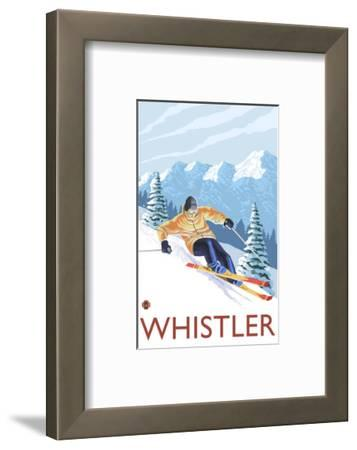Downhhill Snow Skier, Whistler, BC Canada