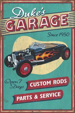 Dukes Garage - Vintage Sign