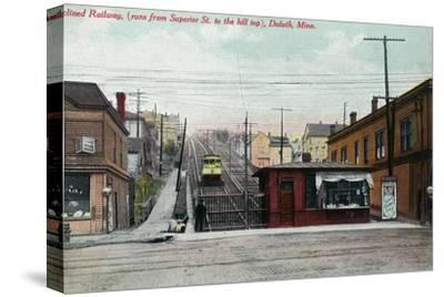 Duluth, Minnesota - View of the Superior St Incline Railway