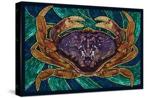 Dungeness Crab - Paper Mosaic by Lantern Press