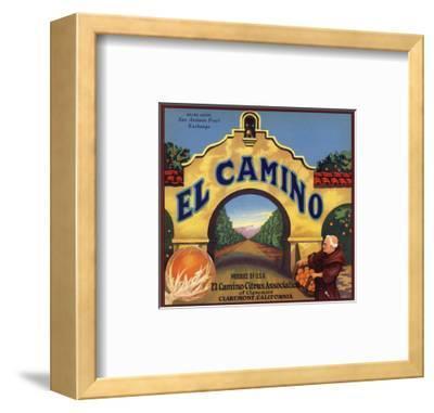El Camino Brand - Claremont, California - Citrus Crate Label