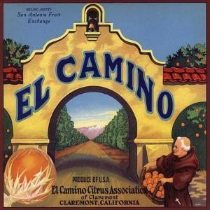 El Camino Brand - Claremont, California - Citrus Crate Label by Lantern Press