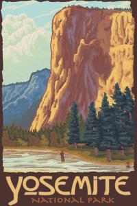 El Capitan, Yosemite National Park, California by Lantern Press