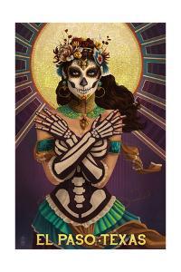 El Paso, Texas - Day of the Dead Crossbones by Lantern Press