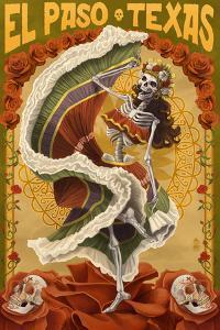 El Paso, Texas - Day of the Dead Dancer by Lantern Press