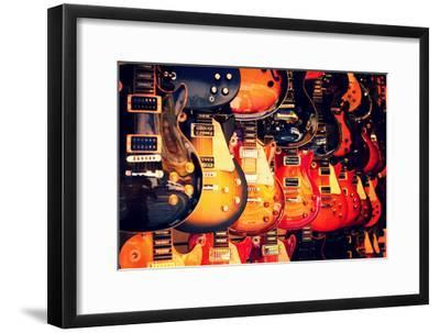 Electric Guitars on Wall