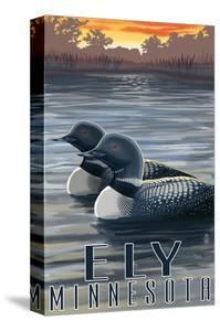 Ely, Minnesota - Loon on Lake by Lantern Press