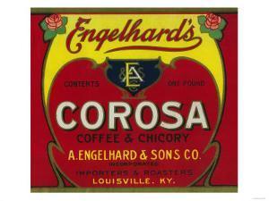 Engelhard's Coffee Label - Louisville, KY by Lantern Press
