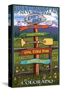 Estes Park, Colorado - Sign Destinations by Lantern Press