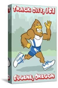 Eugene, Oregon, Bigfoot Jogging, Track City USA by Lantern Press