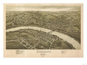 Fairmont, West Virginia - Panoramic Map by Lantern Press