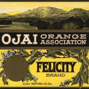 Felicity Brand - Ojai, California - Citrus Crate Label by Lantern Press
